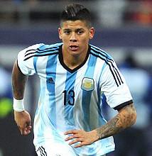Marcos Rojo con la maglia della nazionale argentina